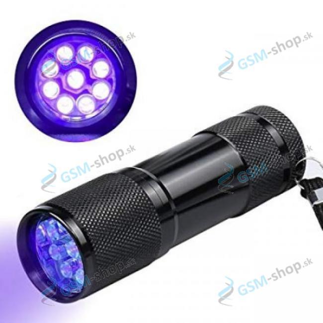 UV baterka 9 LED čierna