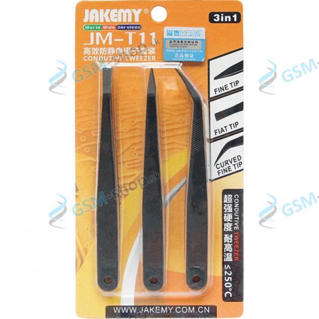 Pinzety JAKEMY JM-T11 set 3 kusy