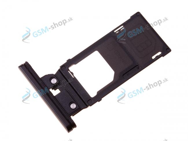Sim a Micro SD držiak Sony Xperia XZ3 čierny Originál