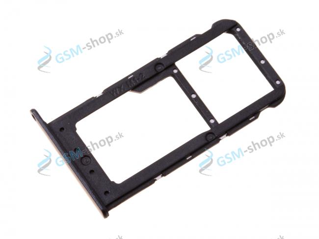 Sim a Micro SD držiak Huawei Honor 9 Lite čierny Originál