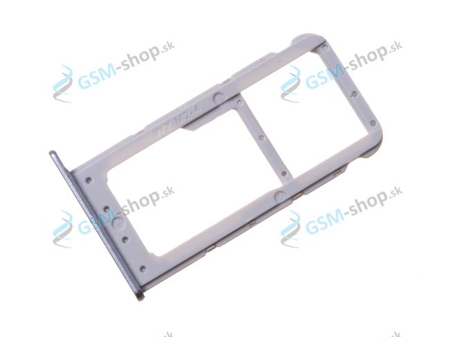 Sim a Micro SD držiak Huawei Honor 9 Lite šedý Originál