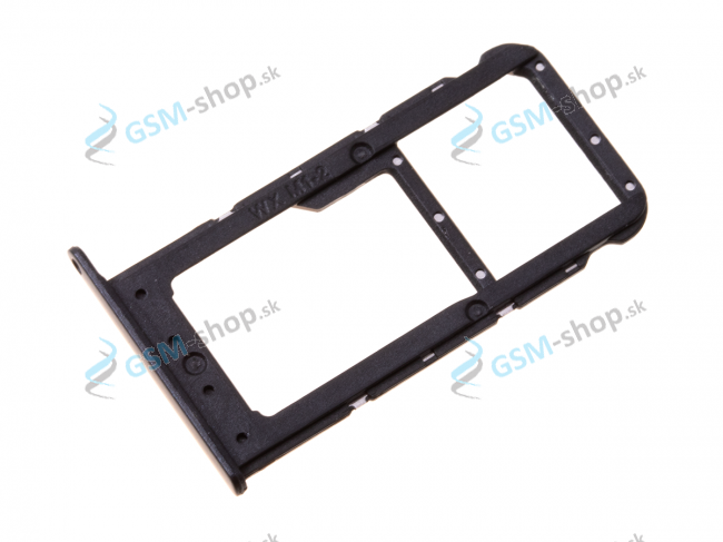 Sim a Micro SD držiak Huawei Honor 7X čierny Originál