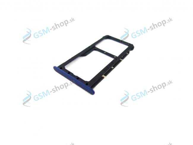 Sim a Micro SD držiak Huawei Honor 7X modrý Originál