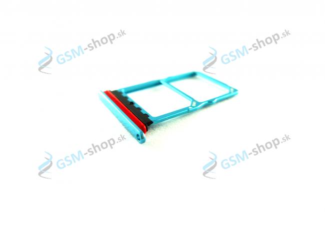 Sim a Micro SD držiak Huawei P30 modrý Originál