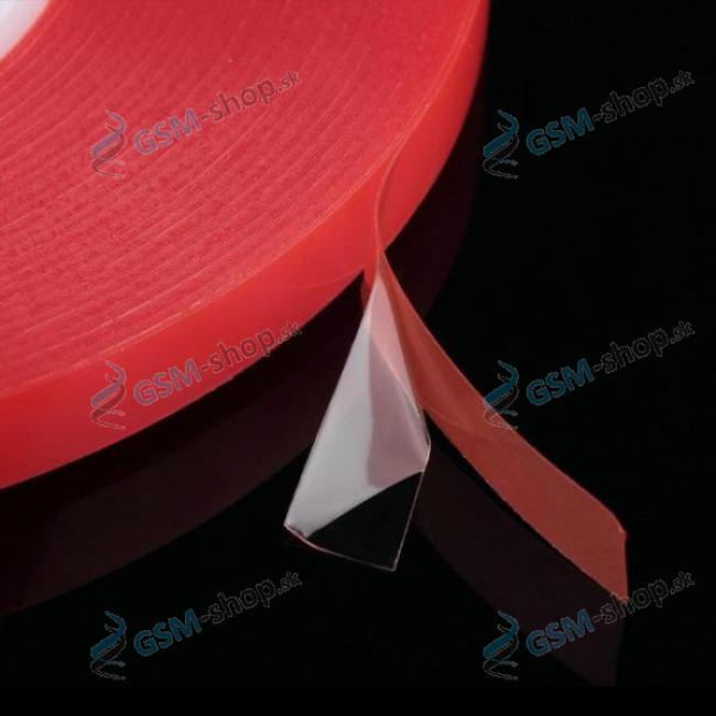 Obojstranná lepiaca páska MAGIC RED 3 mm priehľadná