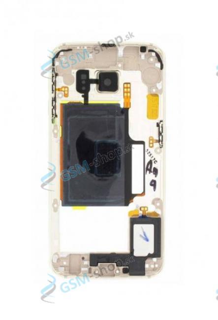 Stred Samsung Galaxy S6 Edge G925F zlatý Originál