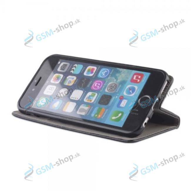 Púzdro iPhone 6, 6s knižka magnetická čierna