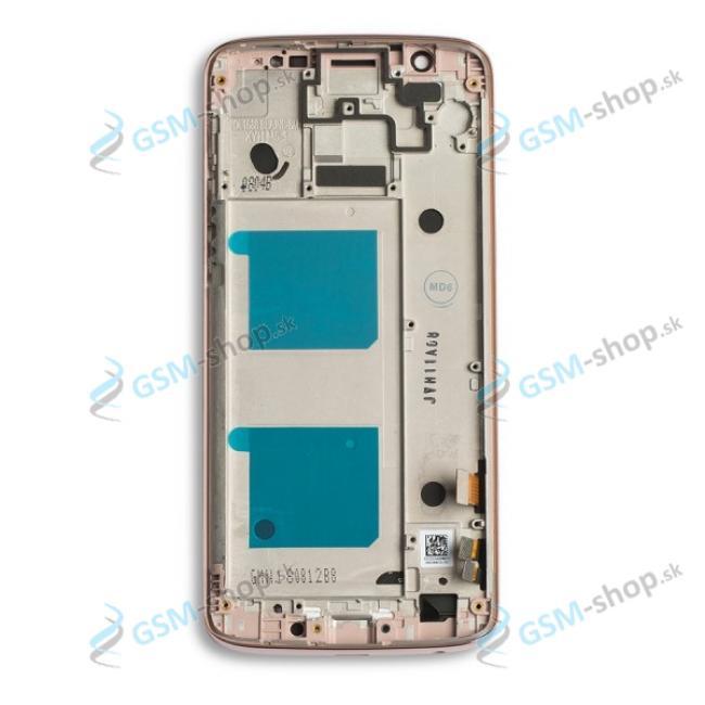 LCD Lenovo Moto G6 a dotyk zlatý s krytom Originál