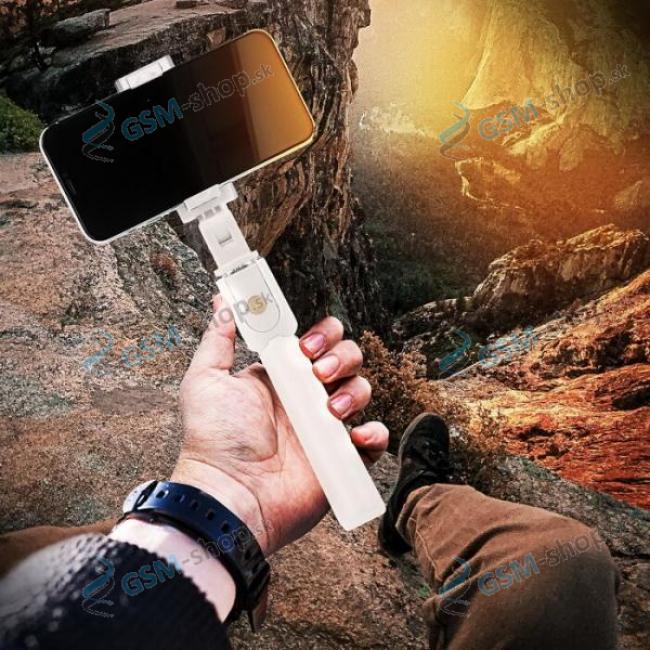 Selfie držiak K07 a statív na mobil s BlueTooth ovládaním  biely
