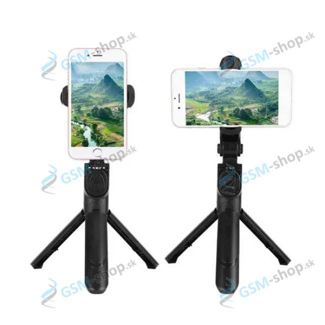 Selfie držiak XT-09 a statív na mobil s bluetooth ovládaním čierny