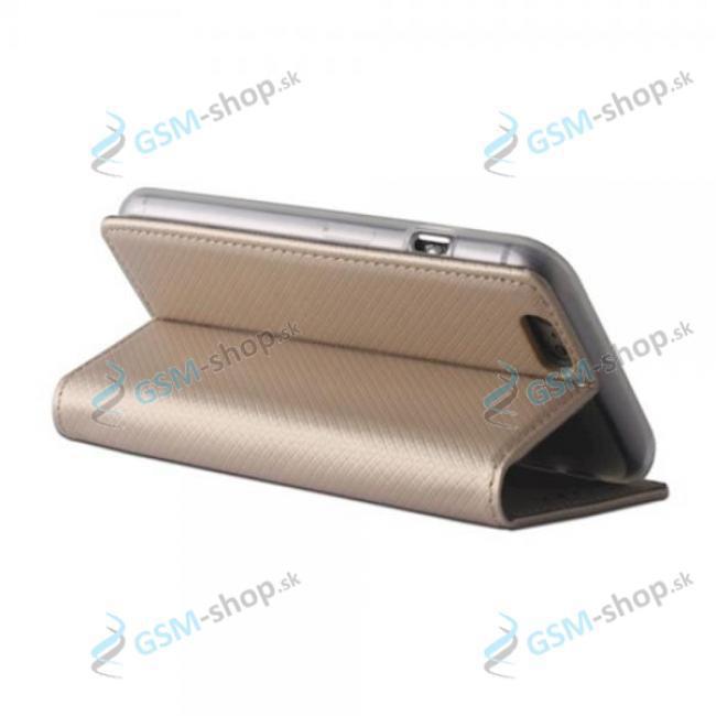 Púzdro Xiaomi Mi 10 Lite knižka magnetická zlatá