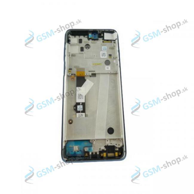 LCD displej Motorola Moto G 5G Plus (XT2075) a dotyk s krytom modrým Originál