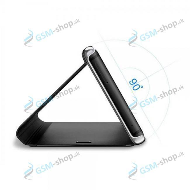 Púzdro CLEAR VIEW Samsung Galaxy A12 (A125), M12 (M127) čierne