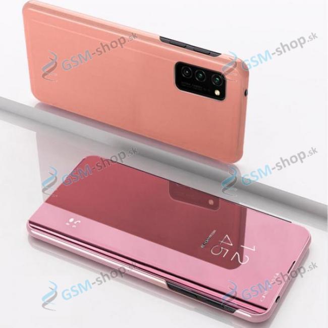 Púzdro CLEAR VIEW Samsung Galaxy A12 (A125), M12 (M127) ružové