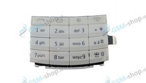 Klávesnica Nokia X3-02 biela Originál