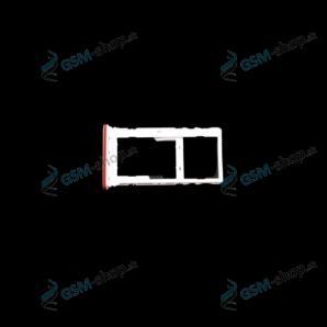 SIM držiak Motorola Moto E7 Plus (XT2081) oranžový Originál