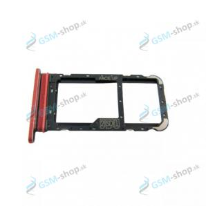 SIM držiak Motorola Moto E7 (XT2095) červený Originál