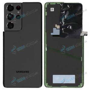 Kryt Samsung Galaxy S21 Ultra 5G (G998) batérie čierny Originál