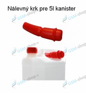 Nálevka na kanister s isopropylom