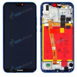 LCD Huawei P20 Lite a dotyk s krytom modrým Originál