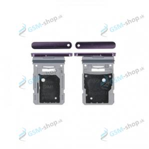 SIM a microSD držiak Samsung Galaxy S20 FE (G780) fialový Originál