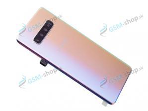 Kryt Samsung Galaxy S10 Plus (G975) batérie strieborný Originál