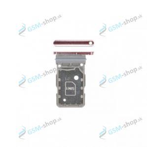 Dual SIM držiak Samsung Galaxy S21 5G (G991B) ružový Originál