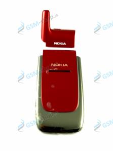 Kryt Nokia 6060 predný a kryt antény červený Originál