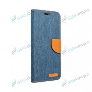 Púzdro CANVAS iPhone 12 Mini knižka modrá