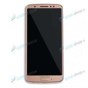 LCD displej Motorola Moto G6 (XT1925) a dotyk zlatý s krytom Originál