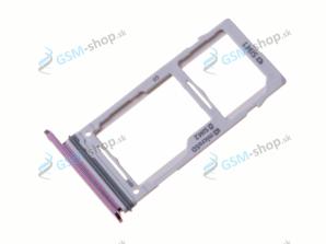 Sim a microSD držiak Samsung S9 Plus (G965) fialový Originál