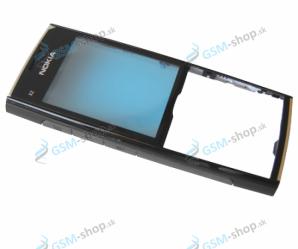 Kryt Nokia X2-00 predný čierno chrómový Originál