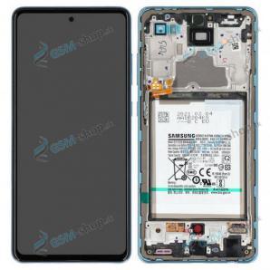 LCD Samsung Galaxy A72 (A725) a dotyk s krytom modrým a batéria Originál