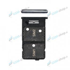 SIM a microSD držiak Samsung Galaxy M31s (M317) modrý Originál