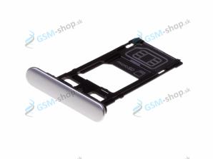 Sim a Micro SD držiak Sony Xperia XZ F8331 strieborný Originál