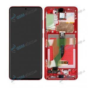 LCD Samsung Galaxy S20 Plus (G985, G986) a dotyk s krytom červeným Originál