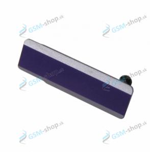Krytka USB Sony Xperia Z1 fialová Originál