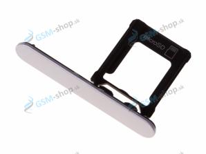 Sim a Micro SD držiak Sony Xperia XZ1 Compact strieborný Originál