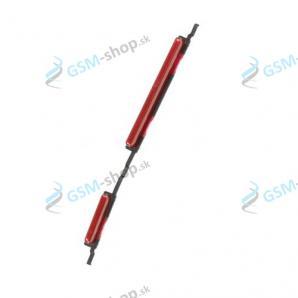 Tlačidlá hlasitosti a zapínania Samsung Galaxy A10 (A105) červené Originál