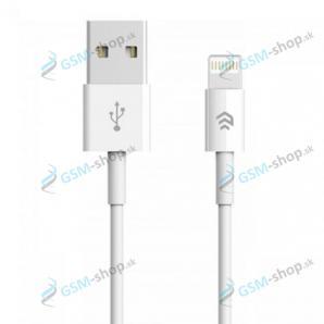 Dátový kábel DEVIA iPhone Lightning 2,1A biely 1 meter
