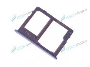 Sim a microSD držiak Samsung Galaxy J415, J610 šedý Originál