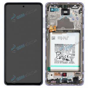 LCD Samsung Galaxy A72 (A725) a dotyk s krytom fialovým a batéria Originál