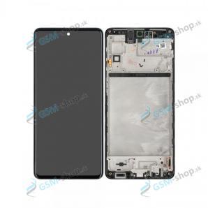 LCD displej Samsung Galaxy M51 (M515) a dotyk s krytom čiernym Originál
