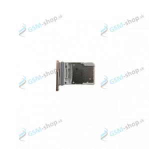 SIM a microSD držiak Samsung Galaxy S20 FE (G780) oranžový Originál
