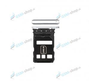 SIM držiak Huawei P40 Pro strieborný Originál