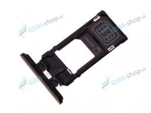SIM a Micro SD držiak Sony Xperia 5 čierny Originál