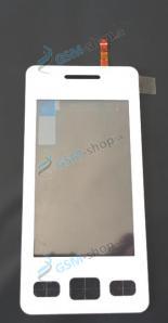 Sklíčko Samsung S5260 biele a dotyková plocha Originál