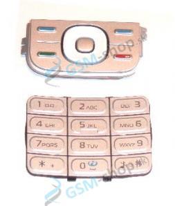 Klávesnica Nokia 5200, 5300 malá v veľká strieborná Originál