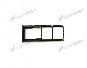 Sim a microSD držiak Samsung Galaxy A30s čierny Originál
