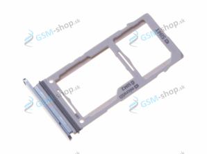 Sim a microSD držiak Samsung Galaxy S10 G973 modrý Originál